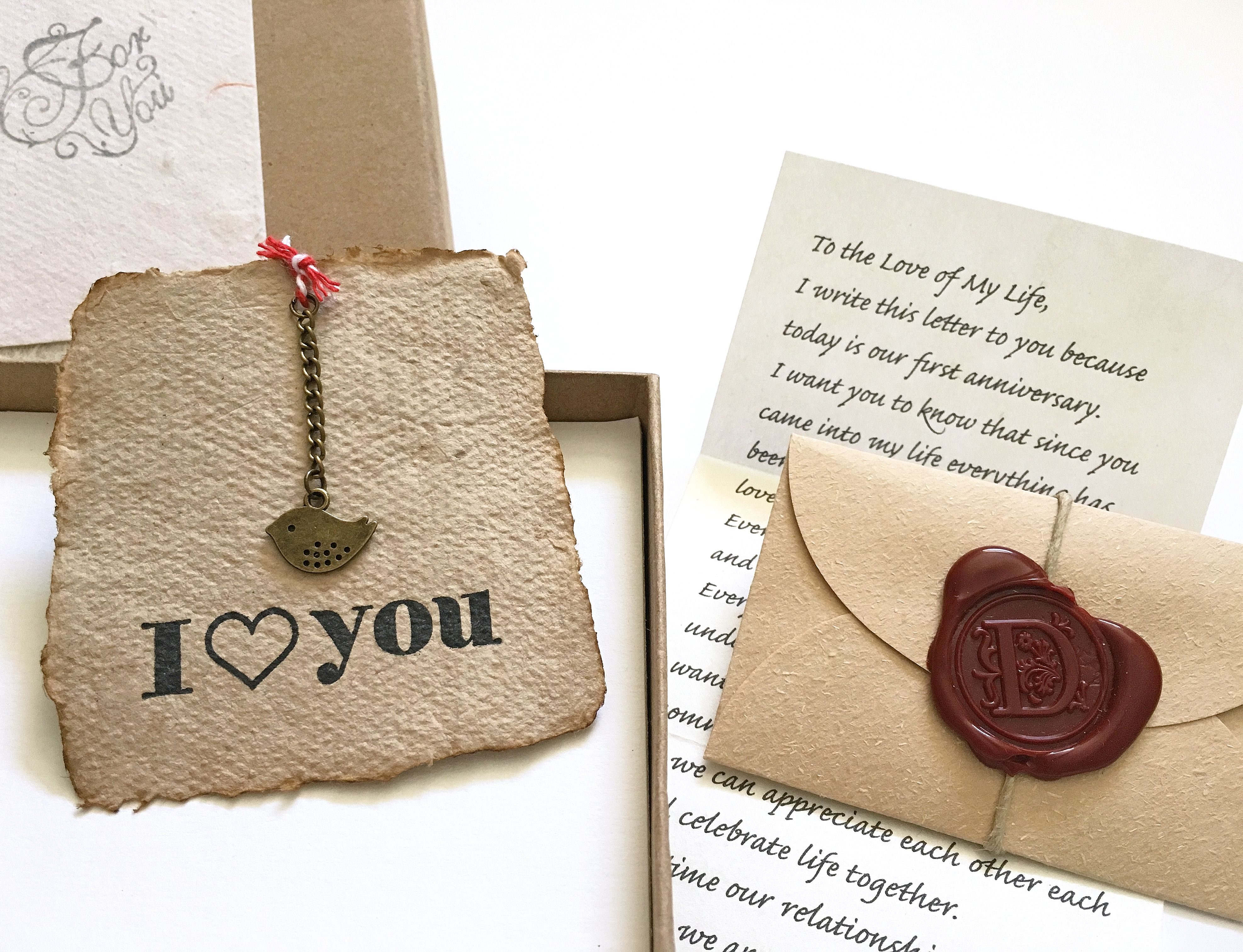 Romantic Gift For Girlfriend Personalized Vintage Style Her Customized Birthday Wife Love Letter Handmade Paper Card