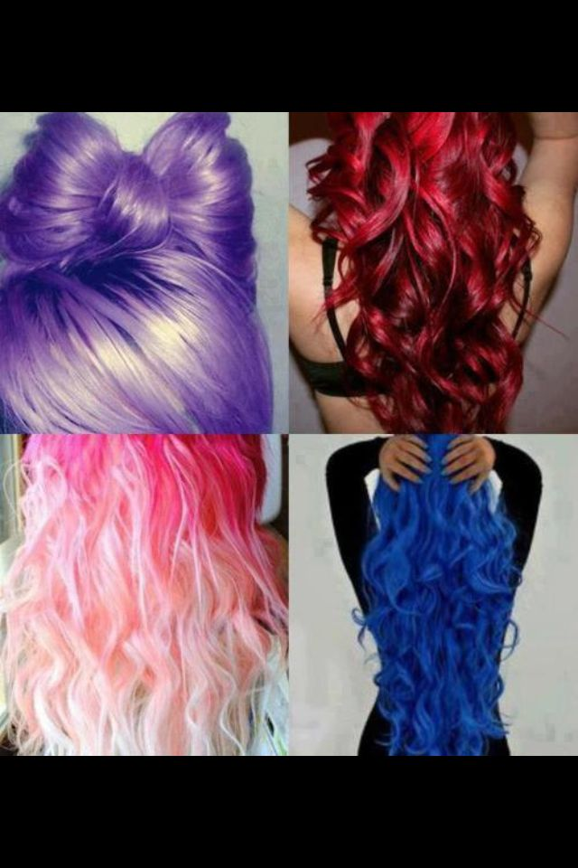 Different Color Hair Hair Styles Hair Color Crazy Pretty Hair Color