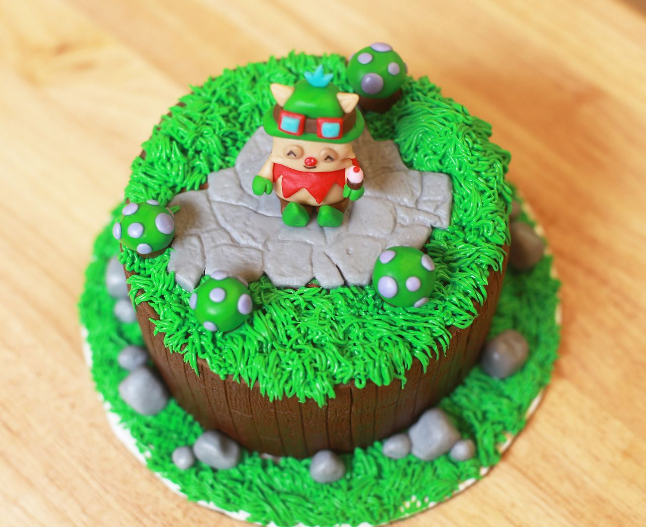 Teemo Cake from League of Legends   Cake, Cake decorating ...