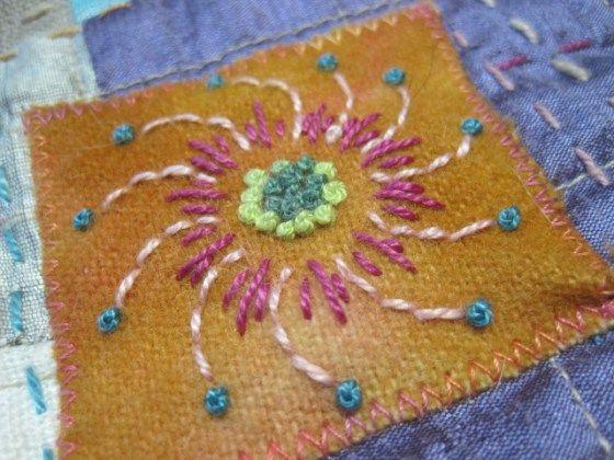 Angels quilt detail