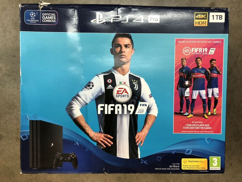 Playstation 4 Pro 1tb Fifa19 Bundle Cuh 7116b Ps4 Gaming Video Playstation 4 Games Video Game Console
