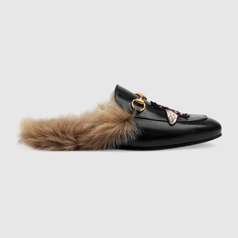 3129b216c8d GUCCI Princetown slipper with bee.  gucci  shoes  men s moccasins   loafers