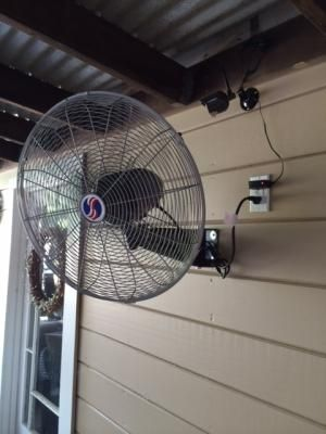 The Perfect Outdoor Patio Fan Wall