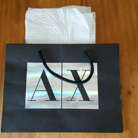 596edacae Armani Exchange Gift Bag Armani Exchange Paper Gift Bag with matching  Tissue Paper. Please see pictures and ask any questions before purchasing.