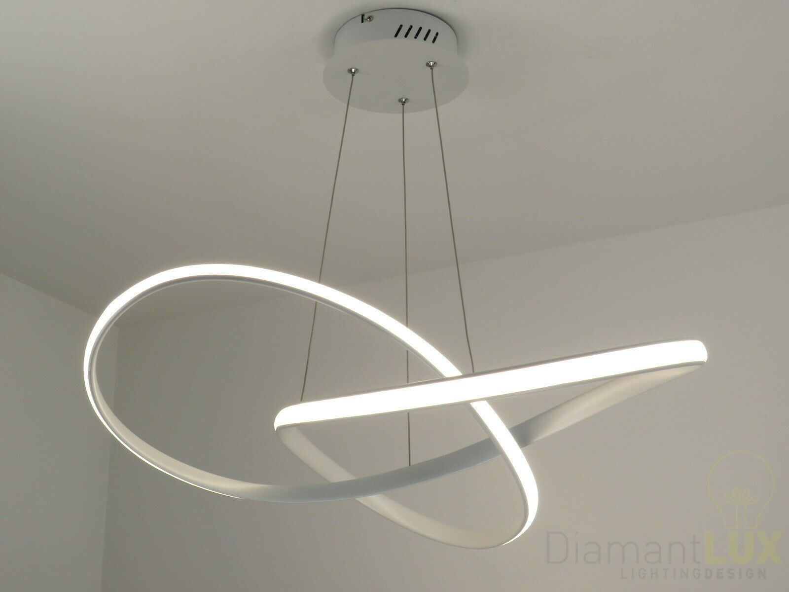 Lampadario Sospensione Design Moderno Led Onde Luminose ...