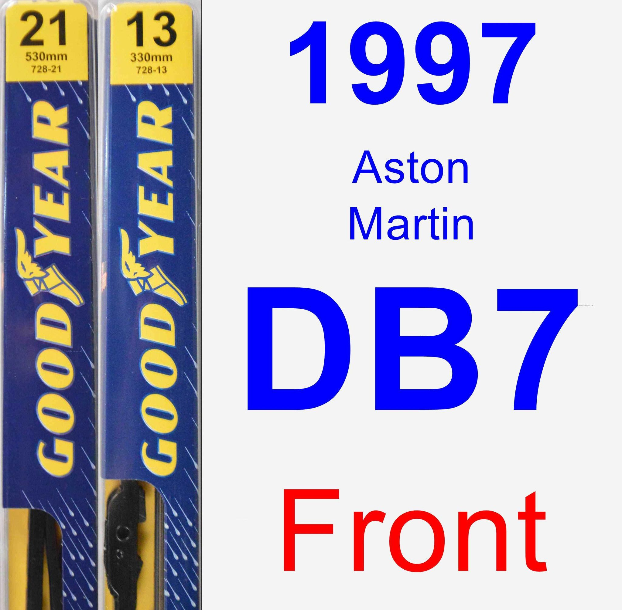 Front Wiper Blade Pack For 1997 Aston Martin DB7
