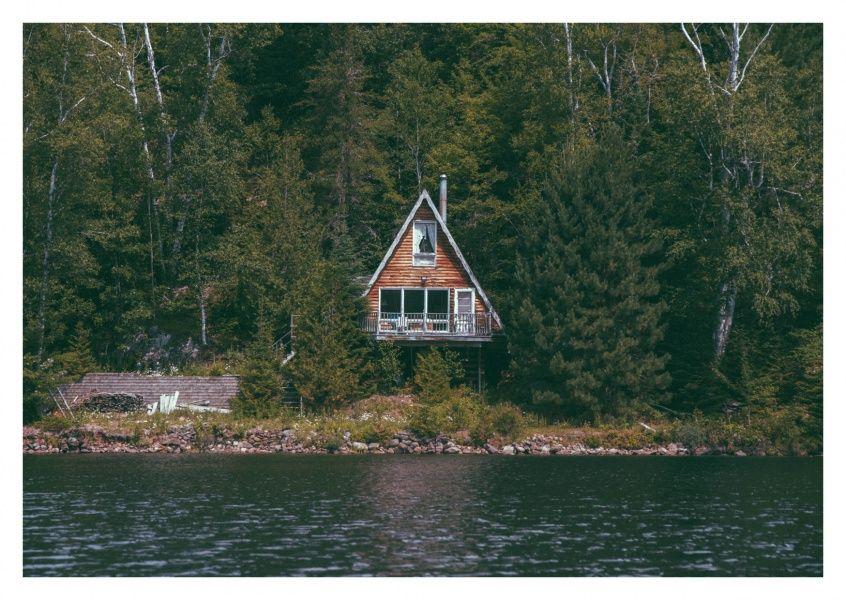 Skandinavisches haus am see  Haus am See | Postkarten online, Versenden und Postkarten