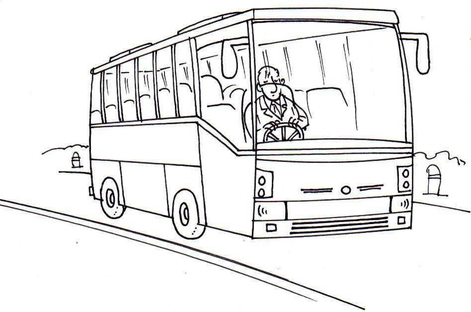 autobus | Omalovánky dopravní přostředky | Pinterest
