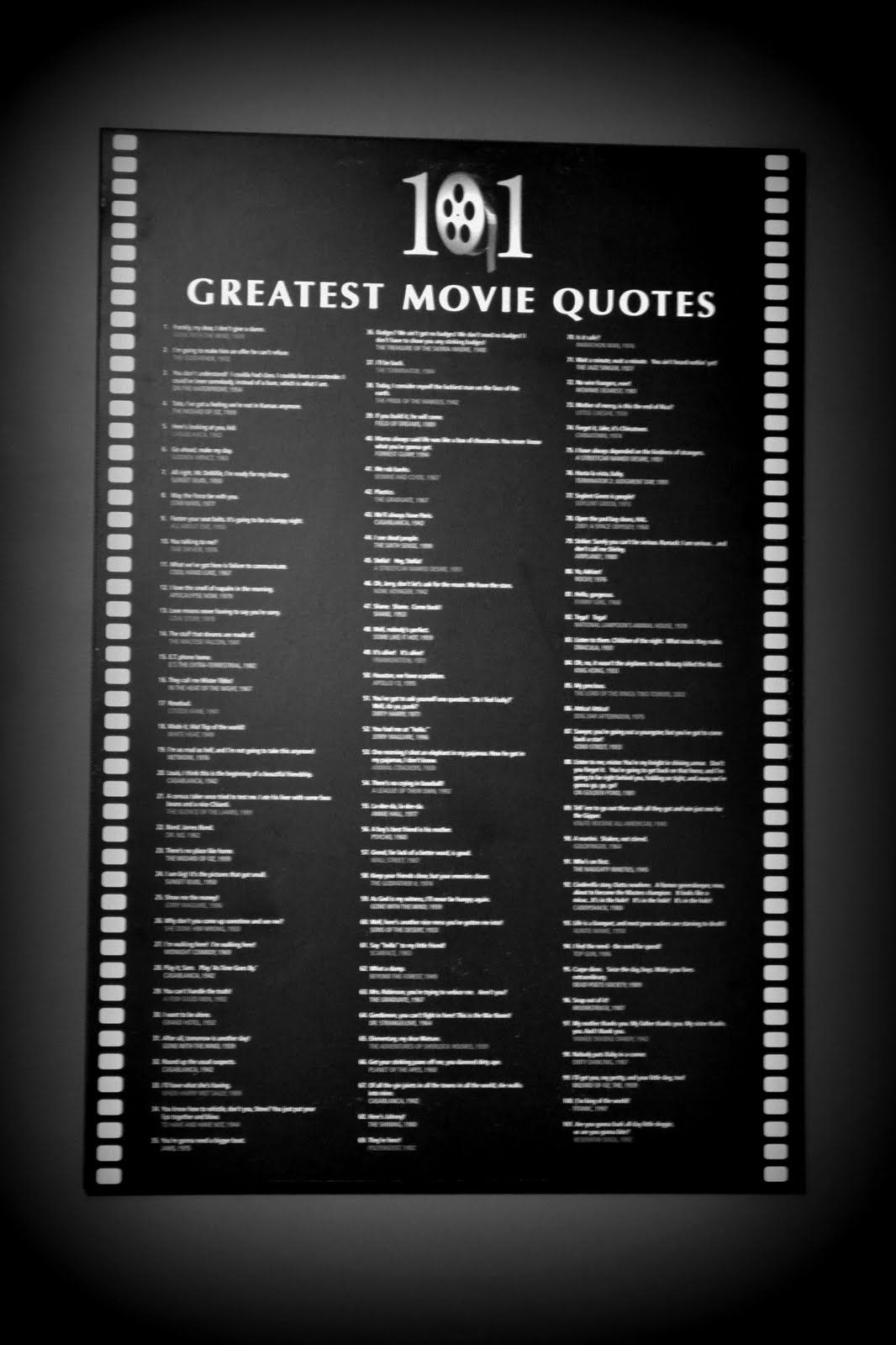 Afi American Film Institute All Time Top Movie Quotes 100 Of