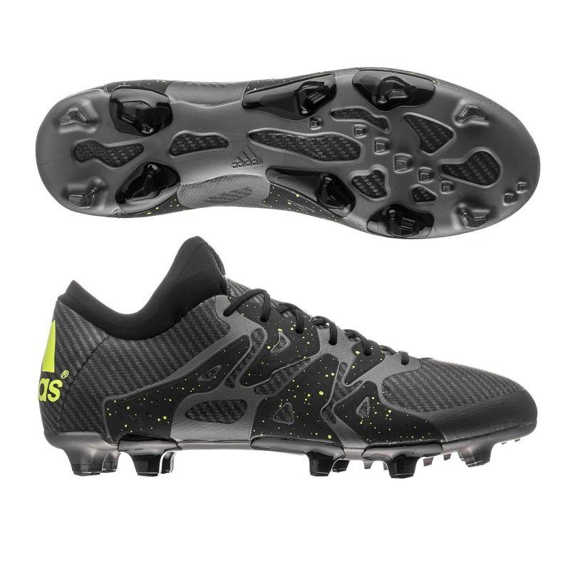 Adidas X 15.1 FG/AG Soccer Cleats (Black/Solar Yellow/Night Metallic