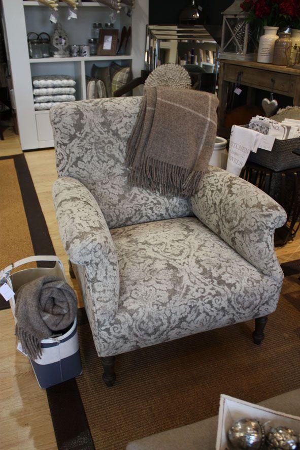 Bejar armchair from KA International - upholstered in Tanu piedra ...