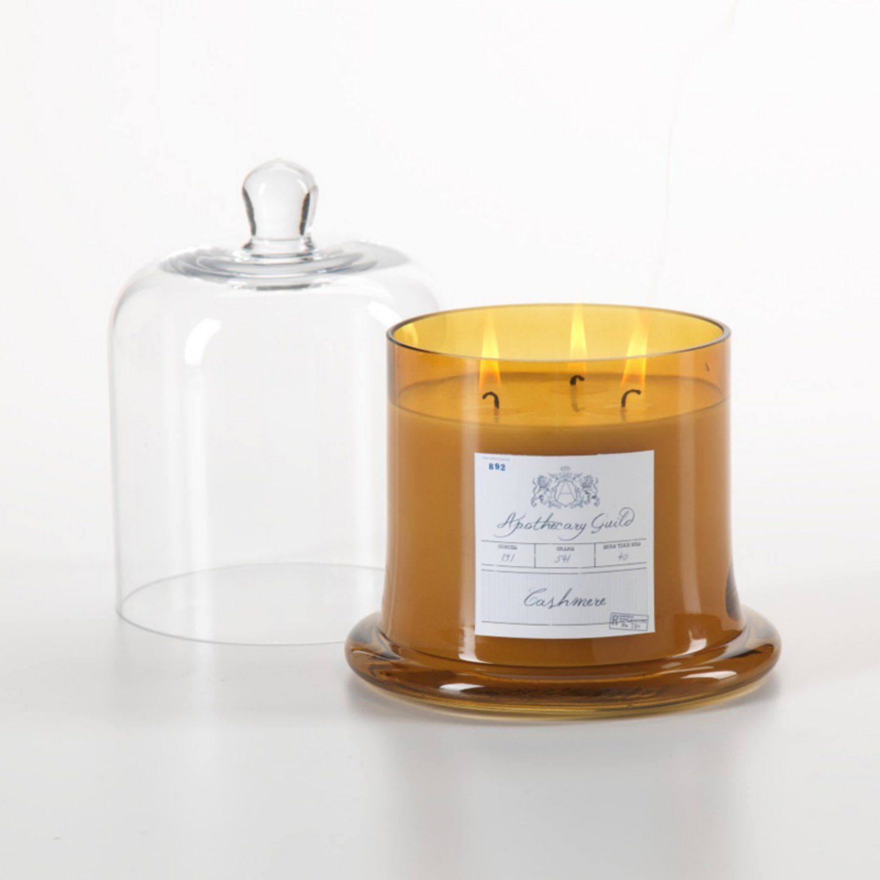 Zodax Cashmere Scented Candle In Glass Jar With Bell Cloche