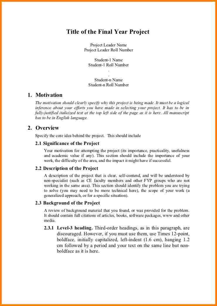 Project Proposal Sample For Students  Proposal Template