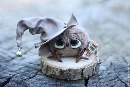 Сова - хранитель - бежевый,сова,шляпа,игрушка сова,игрушка ...