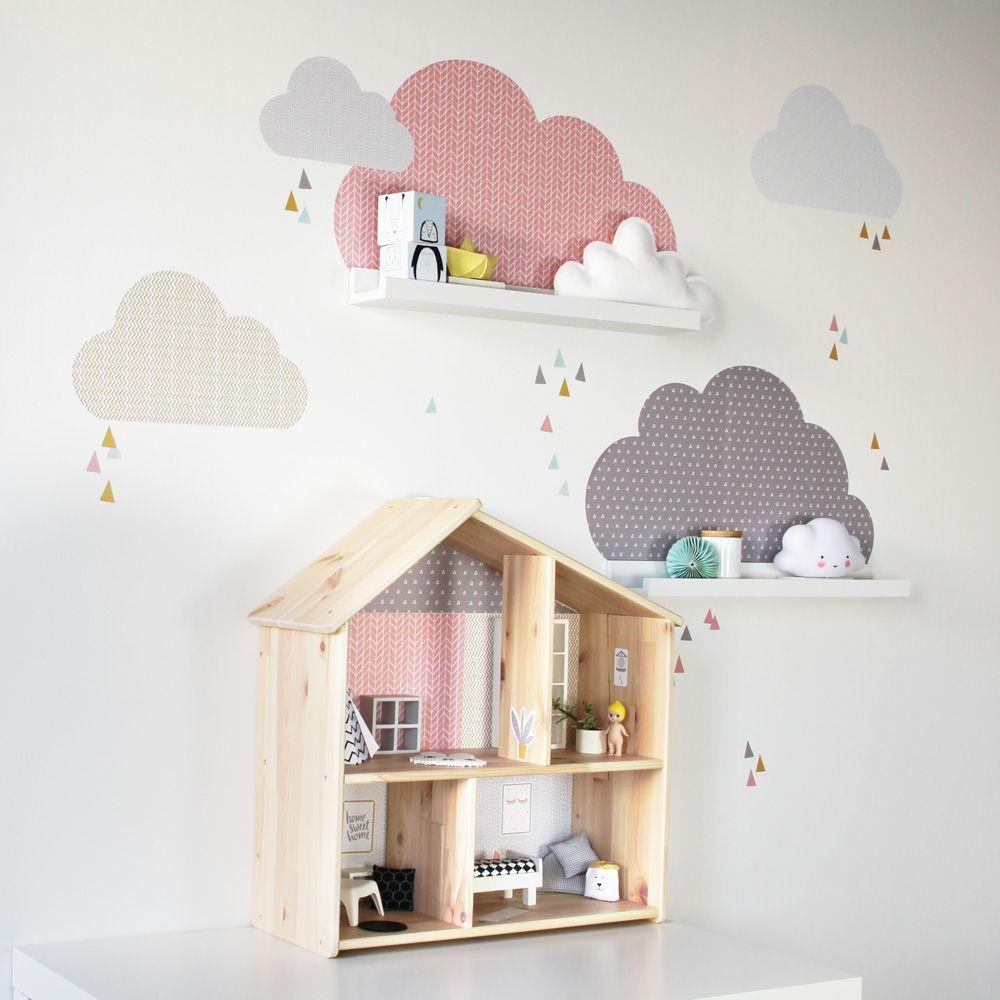IKEA Hack gleich 2x passend im Kinderzimmer: Wolken Wandtattoos für ...