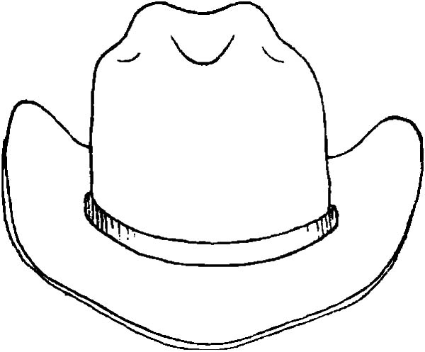 Drawing Cowboy Hat Coloring Pages Kids Play Color Leather Cowboy Hats Cowboy Hats Cowboy Hat Drawing