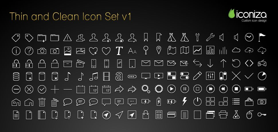 thin clean icons preview jpg 970 463 web design inspiration
