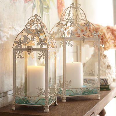 Doves & Azaleas Lanterns