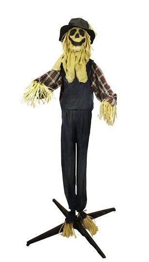 55\u0027 Battery Operated Lighted LED Animated Scarecrow Halloween