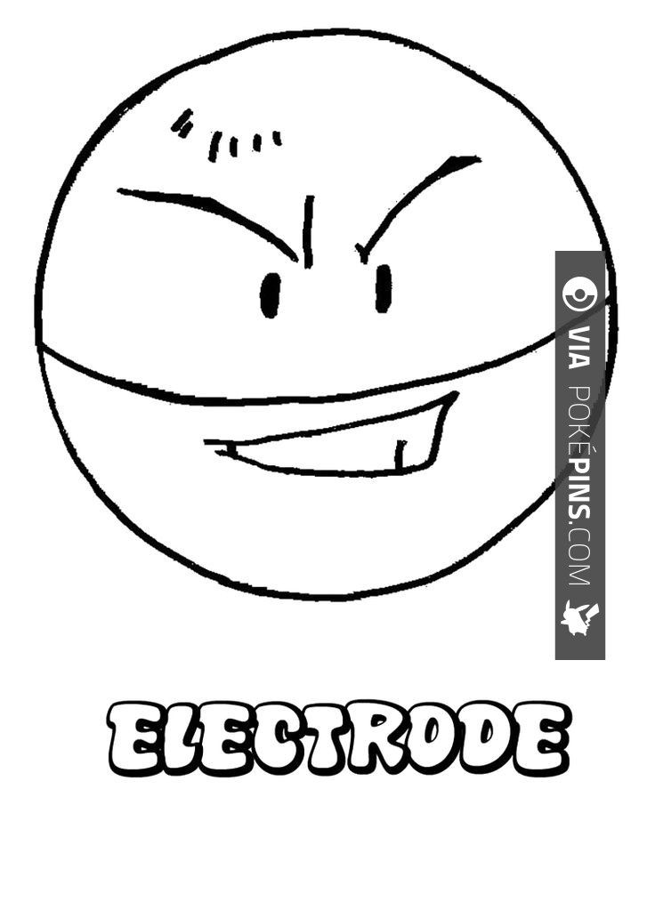 High Quality Electrode Pokemon Pokemon Ball Electrode Coloring Page | Check Out More Electrode  Pokemon