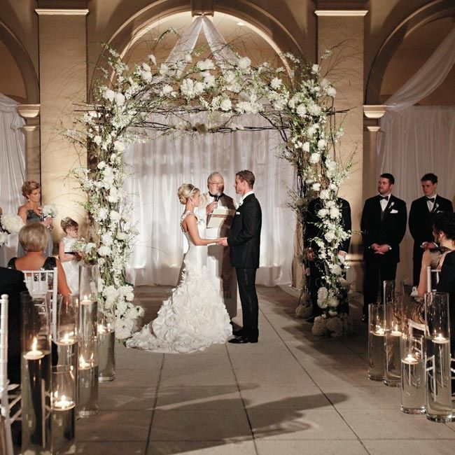 Beautiful Indoor Wedding Ceremony: Elegant Ceremony // Photo By: Ashley Brockinton