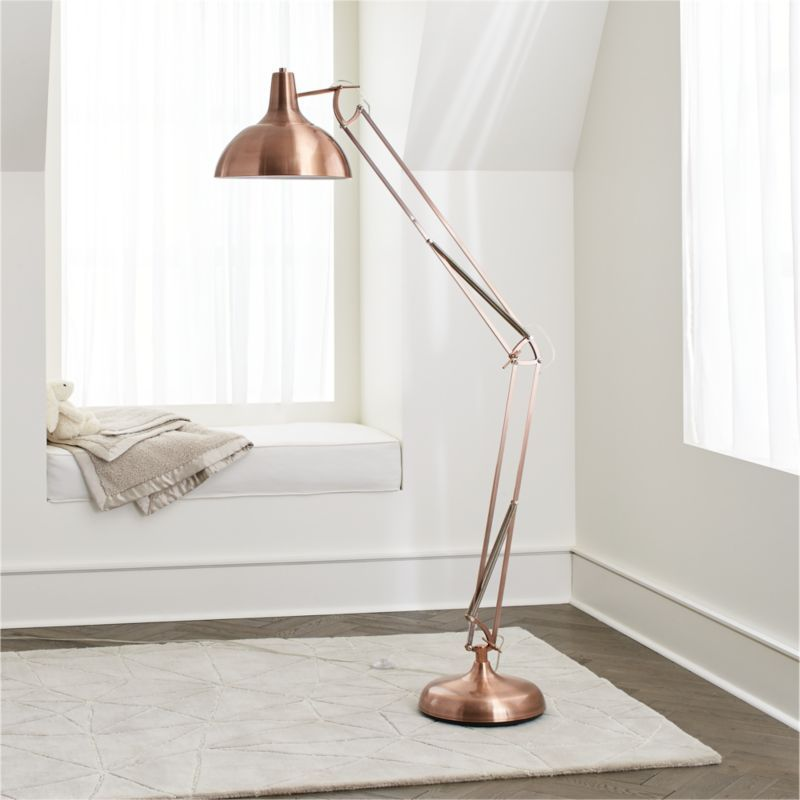 Large Copper Floor Lamp Reviews Crate And Barrel Copper Floor Lamp Floor Lamp Bedroom Floor Lamps Living Room