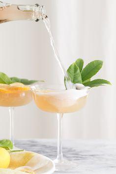 Ginger and Jasmine Rosé Cocktail / Easy Cocktails / Summer Cocktails / Summer Entertaining / Lemon Cocktails