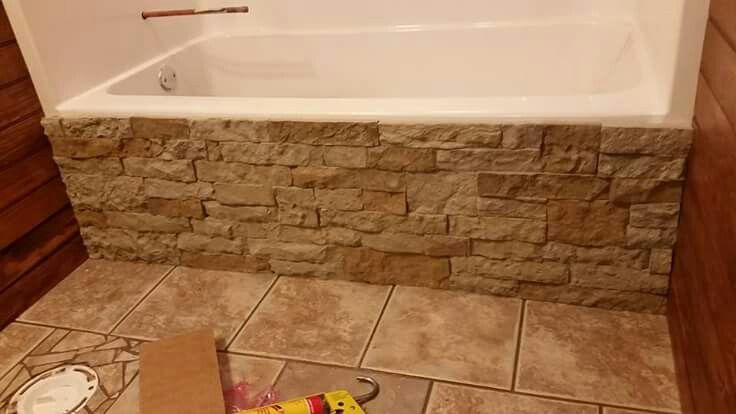 I used Airstone to add a great rustic flare to my tub ...