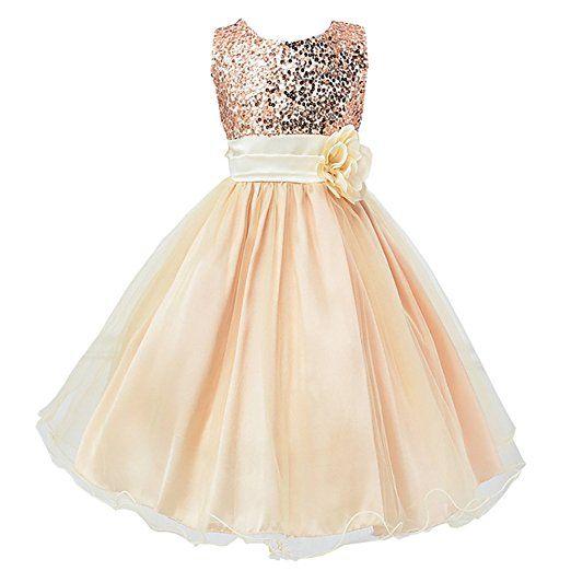 Free Fisher Madchen Sommer Pailletten Kleid Festlich Amazon De Bekleidung Madchen Kleidung Blumenmadchen Kleid Prinzessin Hochzeit