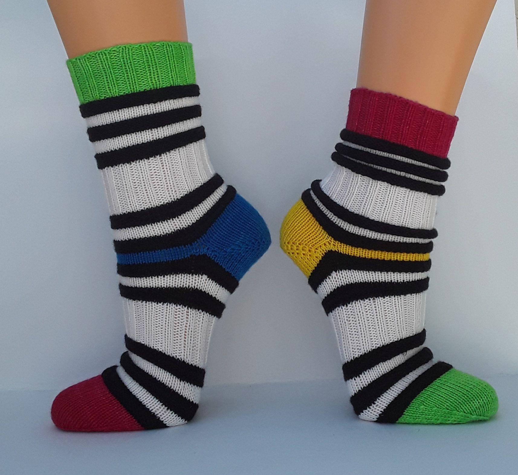 Photo of Socken Wollsocken Damensocken handgestrickt Größe 38/39