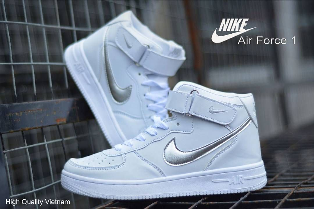 Nike Wedges Air Force One Women Full White Made In Vietnam Size 37