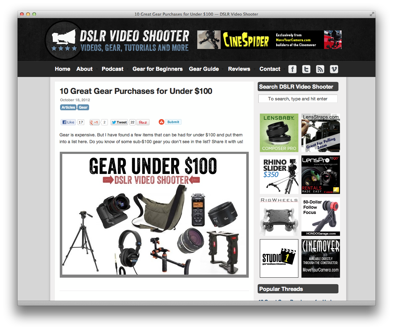 Home sweet home! DSLR video gear, tutorials, and more!