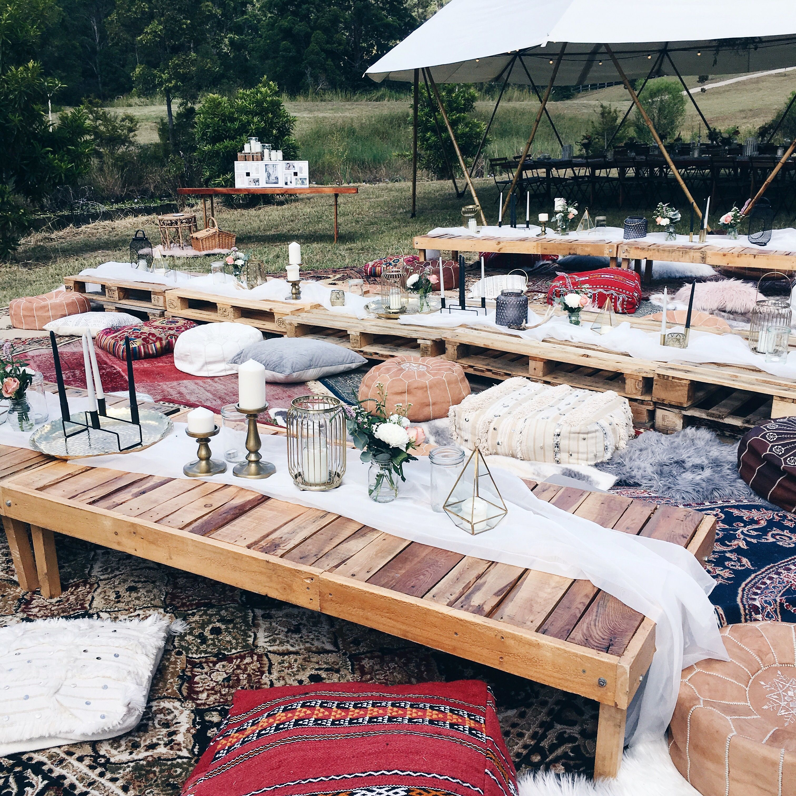 Bohemian Wedding Banquet Style Seating By Harper Arrow