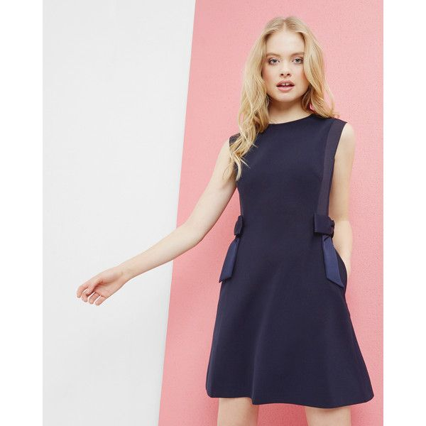 Ted Baker Side bow shift dress (17.635 RUB) ❤ liked on Polyvore ...