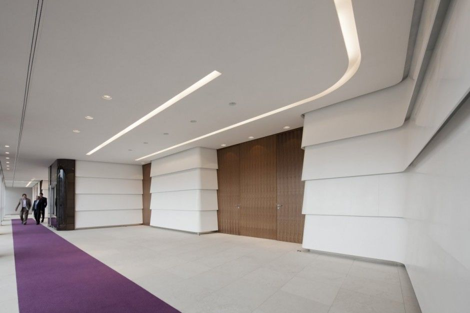 Elegant Interesting Space With The Designs For Office Doors : Large Office Corridor  Purple Carpet Modern Wooden Designs For Office Doors Photo Gallery