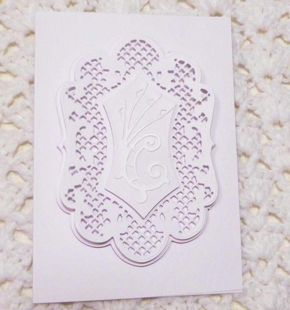 White Lacy Card White Wedding Card Handmade Greeting Card Card