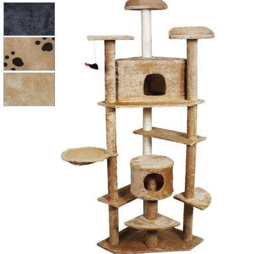 Goplus New 80 Cat Tree Condo Furniture Scratch Post Pet House Beige **  Click On