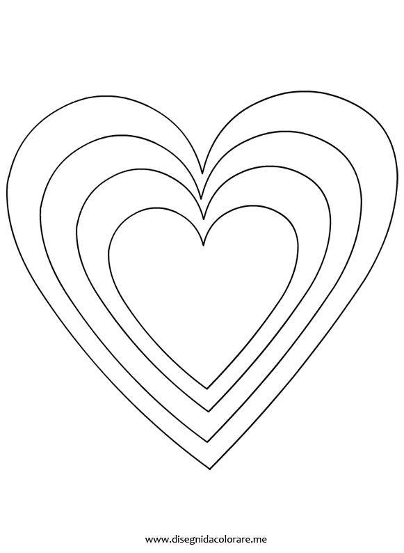 Sagome cuori disegno cuore cuori di stoffa e fai da te for Disegni da colorare dei cuori
