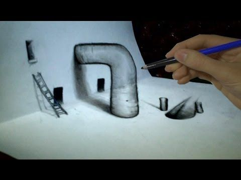 How to draw 3d techniques ep 2 vf youtube · 3d drawing tutorial pencil