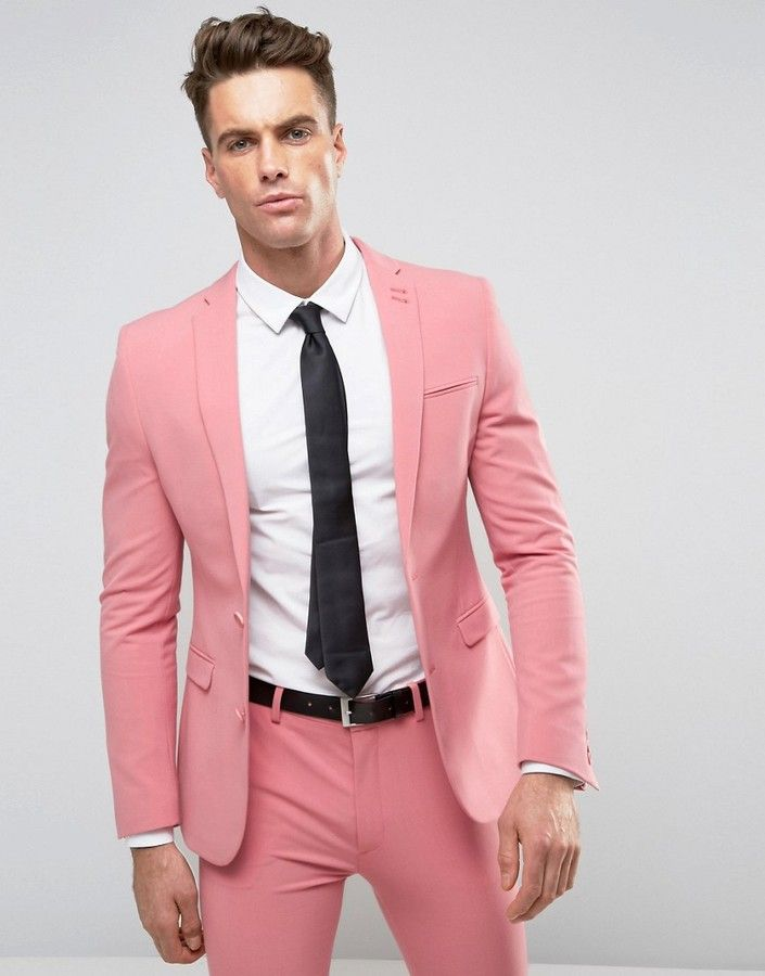 ASOS Super Skinny Suit Jacket In Mid Pink | Men Suiting | Pinterest