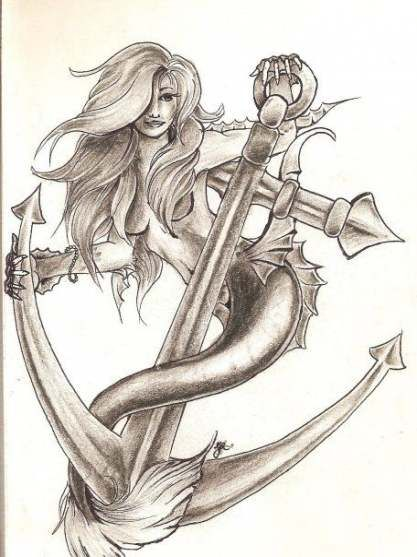 52 Trendy Tattoo Mermaid Anchor Awesome
