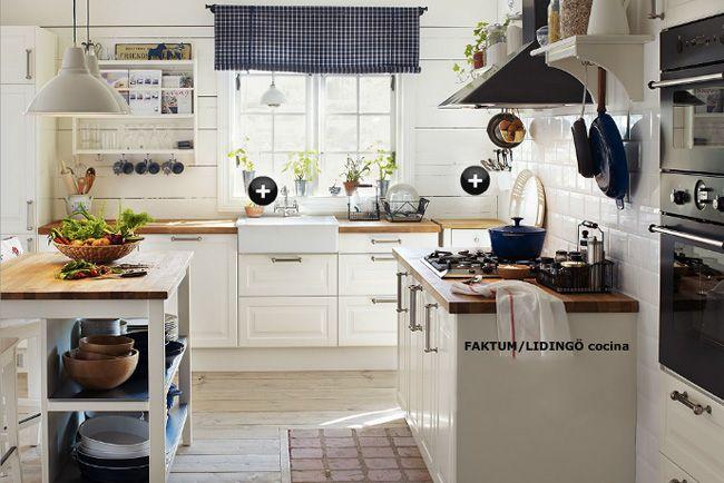 El equivalente en Ikea de la cocina que me inspiró   Cocinas ...