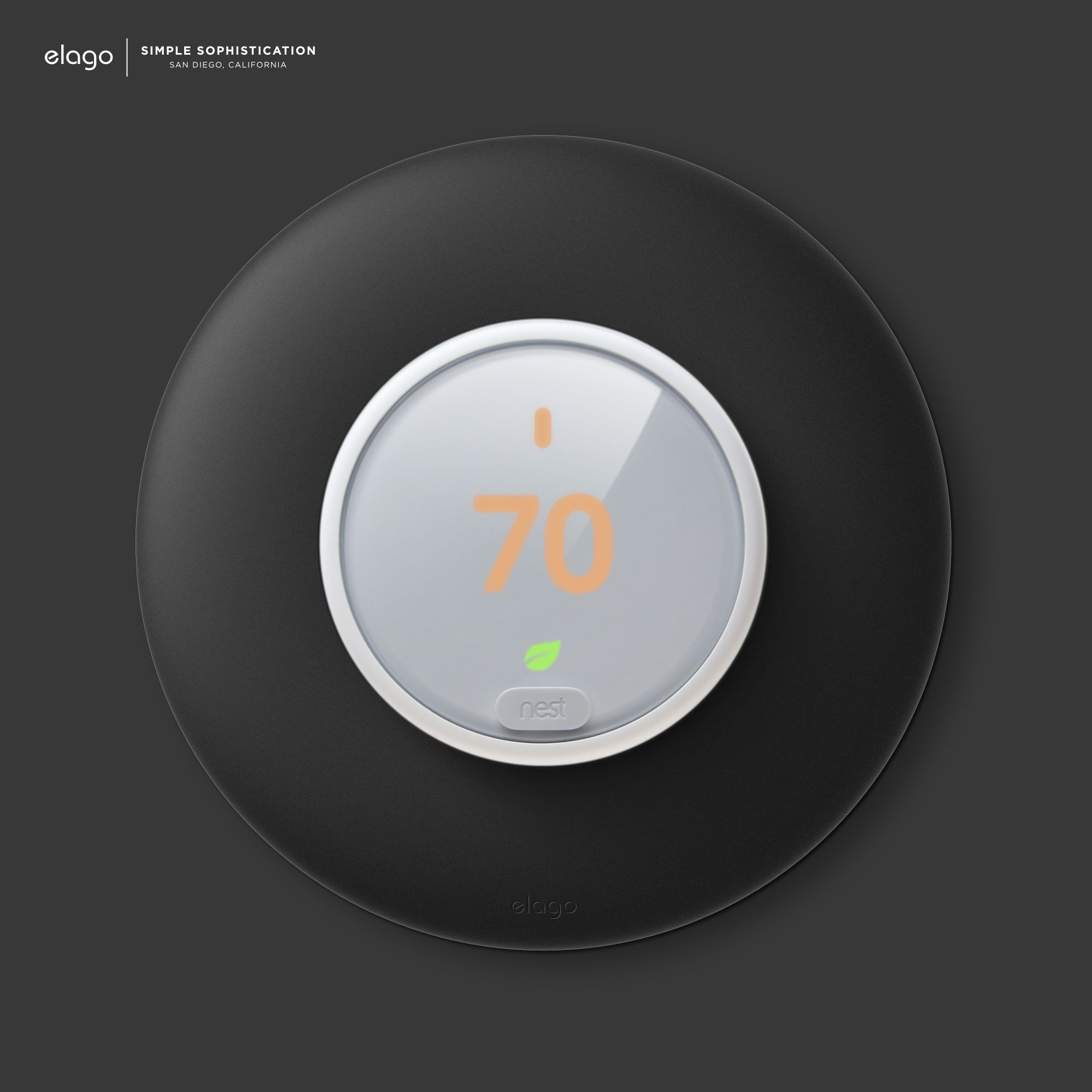 elago Wall Plate Cover for Nest Learning Thermostat E (ABS