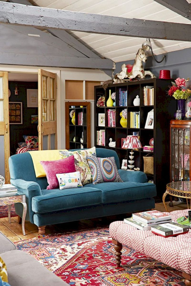 Attirant Gracefulness Bohemian Living Room Design And Decor Ideas (2