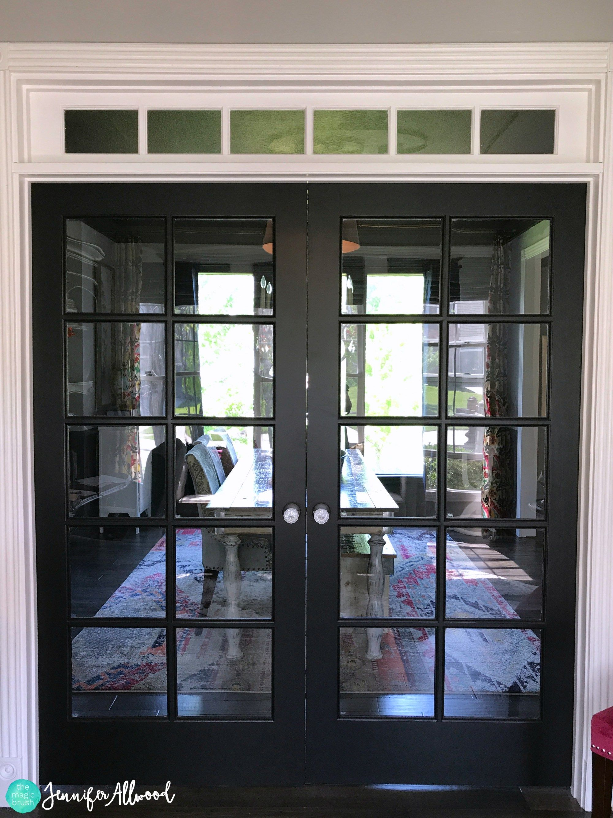 Diy painted black french doors french doors interior