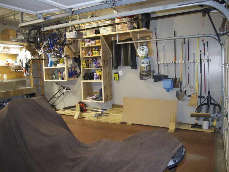 100 easy garage shelves ana white overhead garage storage d