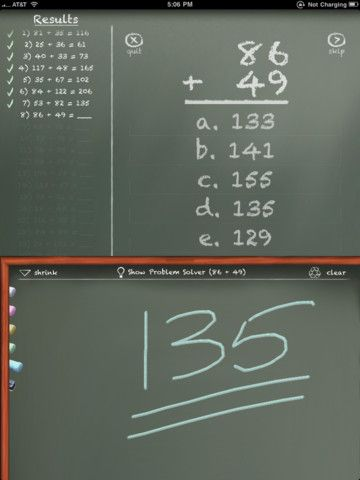 MathBoard Addition is appropriate for all ages from kindergarten to elementary school where ...