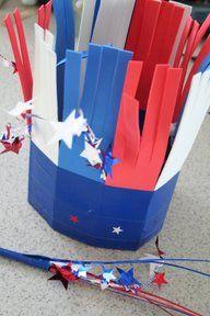 Fourth of July Hat & Sparkler
