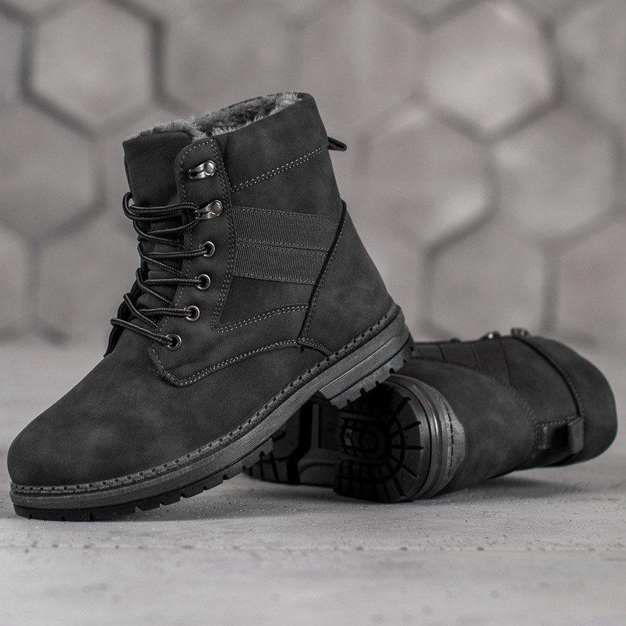 Shelovet Szare Buty Zimowe Boots Winter Boots Boot Shoes Women