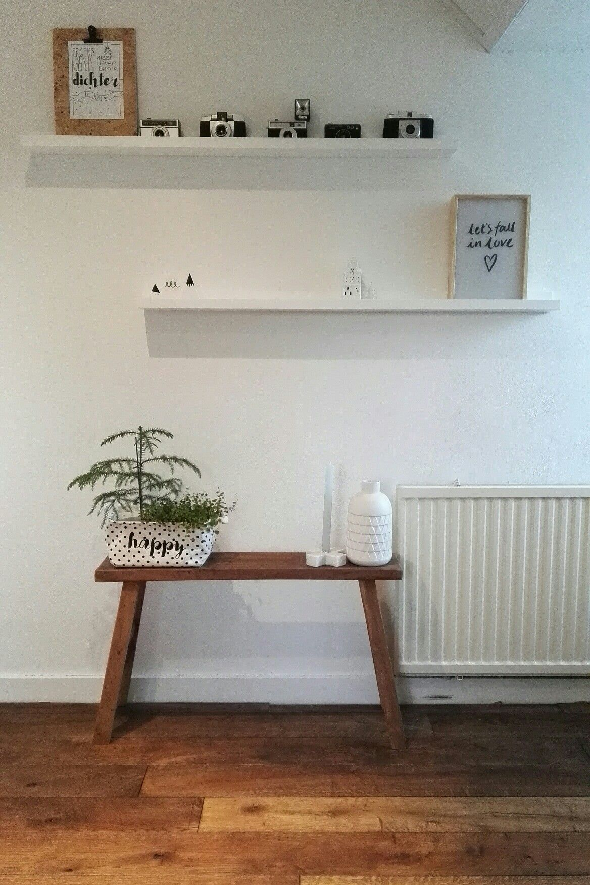 Project slaapkamer. Fotolijst plankjes zijn van #Woood, bankje van ...